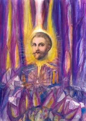 St Germain Solar gold violet fire