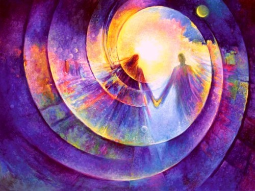 twin flame tunnel spiral