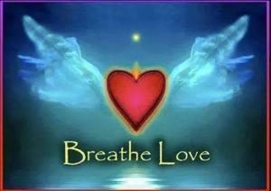 Breathe Love heart wings