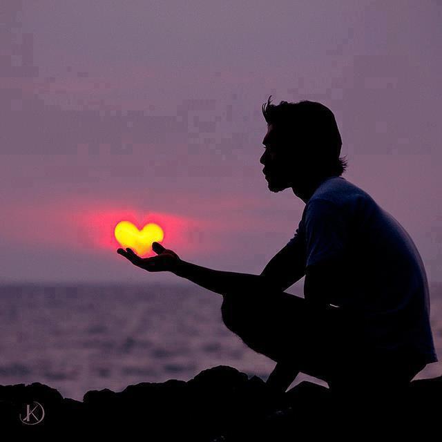 sun heart love ocean violet