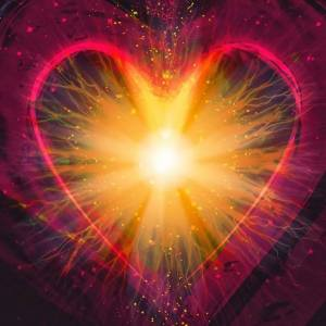 Heart Flame explosion Love