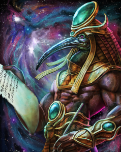 Thoth scribe cosmos