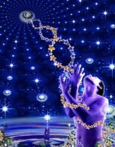 DNA spiral to source God